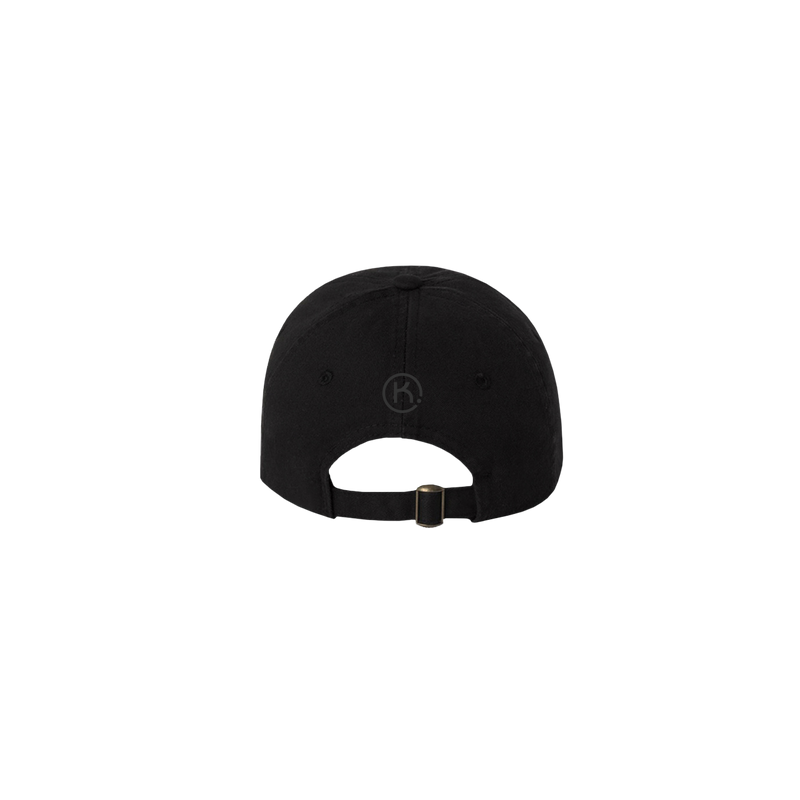 KEEP black 6 panel cap back view