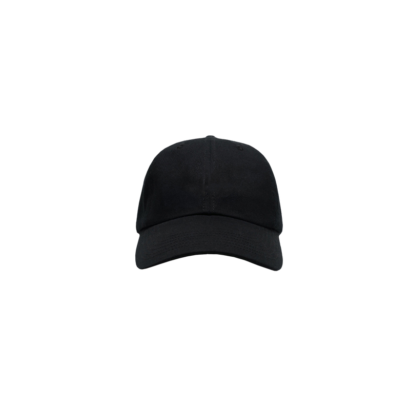 KEEP black 6 panel cap front view
