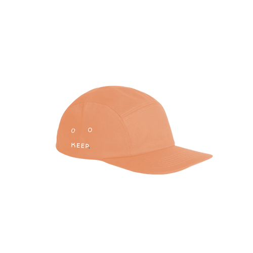 KEEP coral 5 panel cap side view
