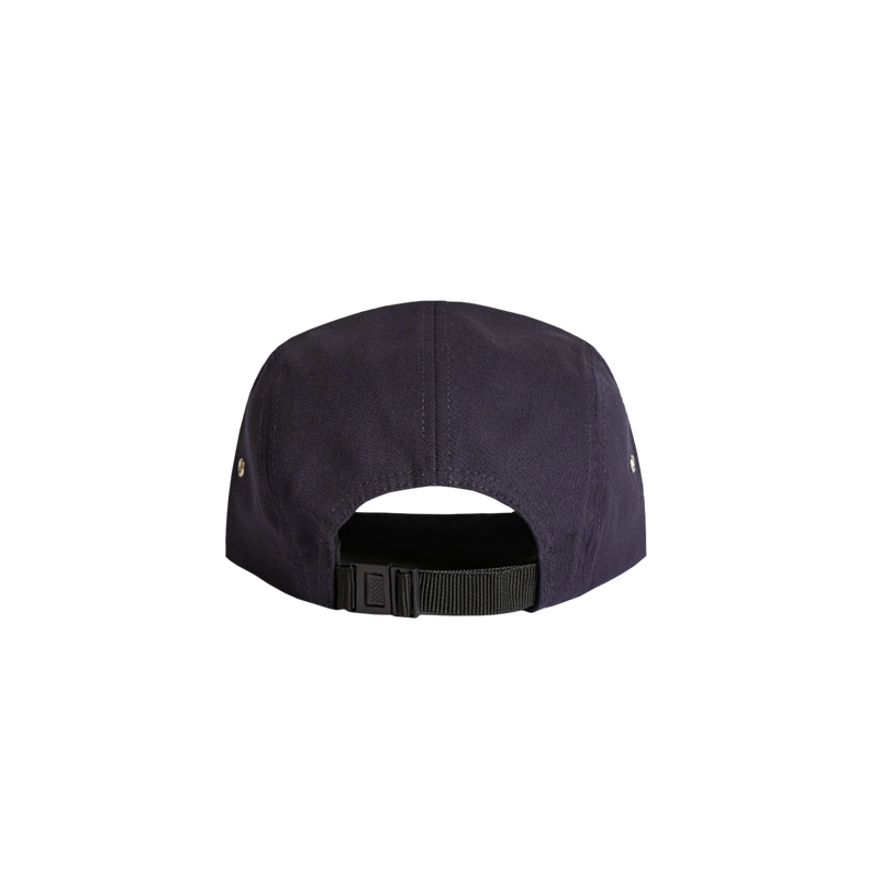 KEEP navy 5 panel cap back view