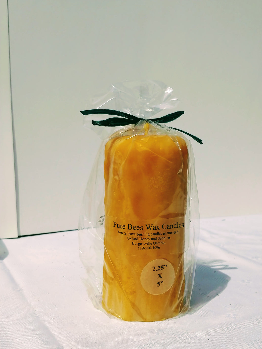 Large Pure Beeswax Candle