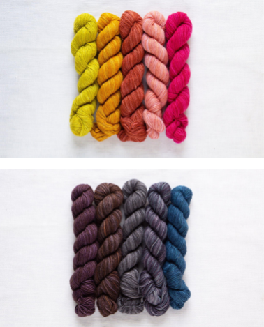 Patterns and Projects in Fino Mini-Skeins