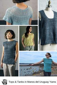 Tops and Tanks in Manos del Uruguay Yarns