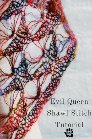 Evil Queen Shawl Stitch Tutorial from Manos Yarns USA