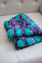 Stripes and Blocks Double-Knit Baby Blanket (F162)
