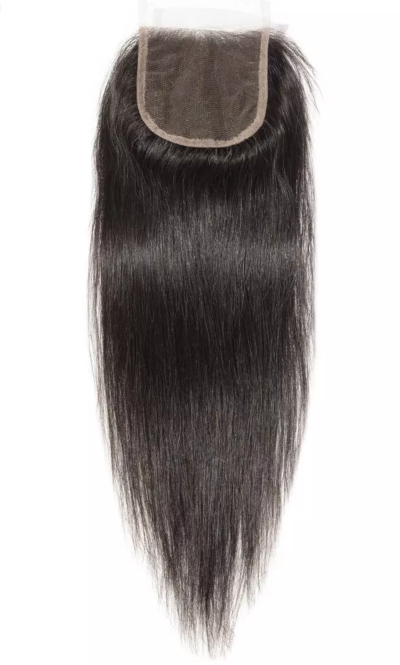 Raw Indian Straight Closure
