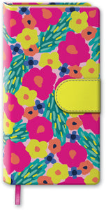 Turquoise Vibrant Floral Magnetic Notebook