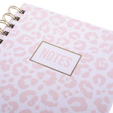 Load image into Gallery viewer, Pink Leopard Hardcover Spiral Journal