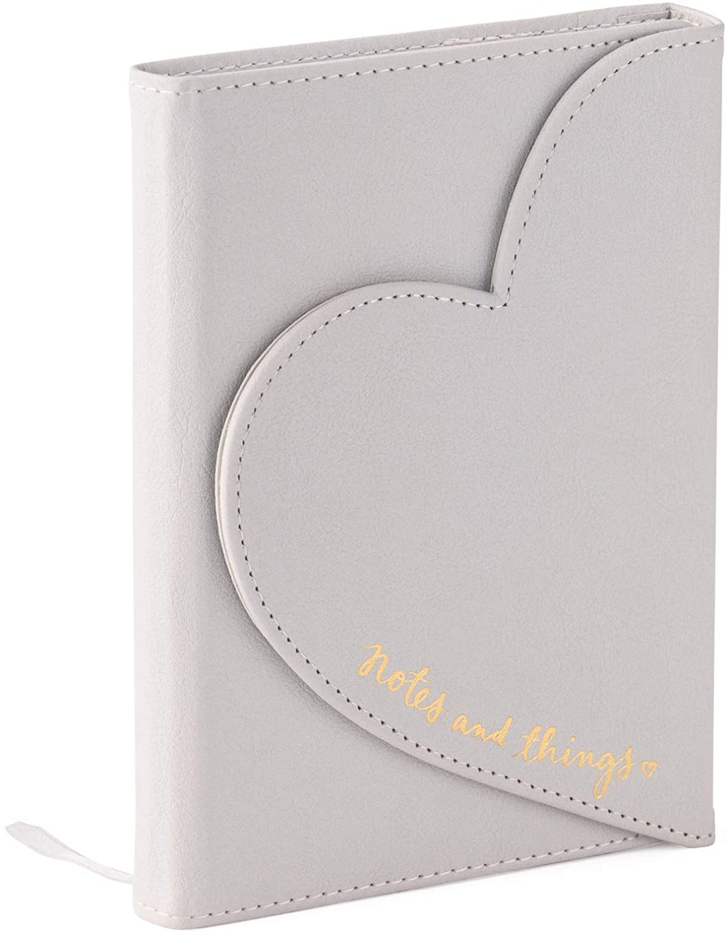 Heart Shaped Magnetic Journal in Light Gray