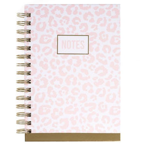 Pink Leopard Hardcover Spiral Journal