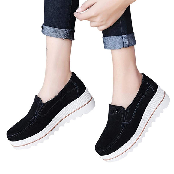 Ladies Flats Muffin Shoes Sneakers -FOR PAINFUL FEET,PLANTAR FASCIITIS- Casual Creepers Shoes-