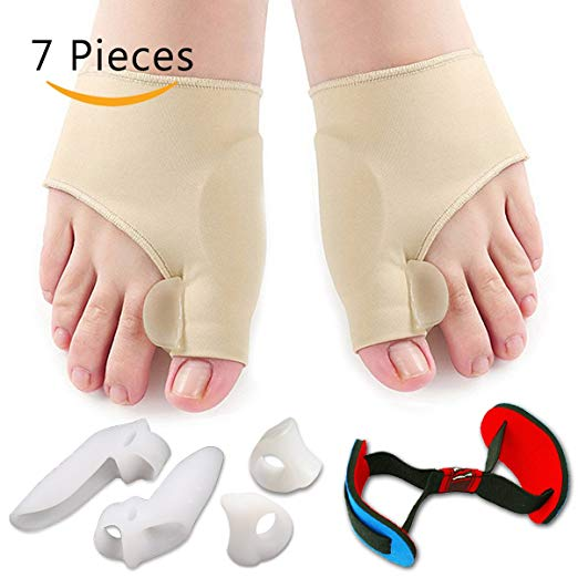 Bunion Corrector & Bunion Relief Protector Sleeves Kit -Rheumatologist Approved-