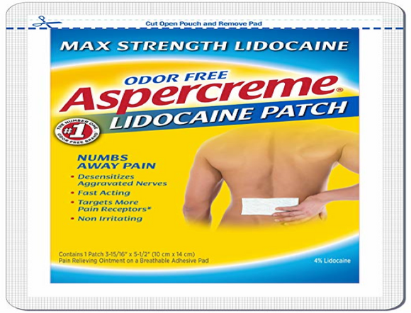 PAIN RELIEF—LIDOCAINE PATCH
