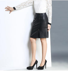 3fbd4aca7439 High Quality Women Pencil Leather Sexy Black Skirt - GoFashional Store.  NEXT. PREV. Zoom. Previous