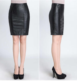 70b93c6bf1ac High Quality Women Pencil Leather Sexy Black Skirt – GoFashional Store
