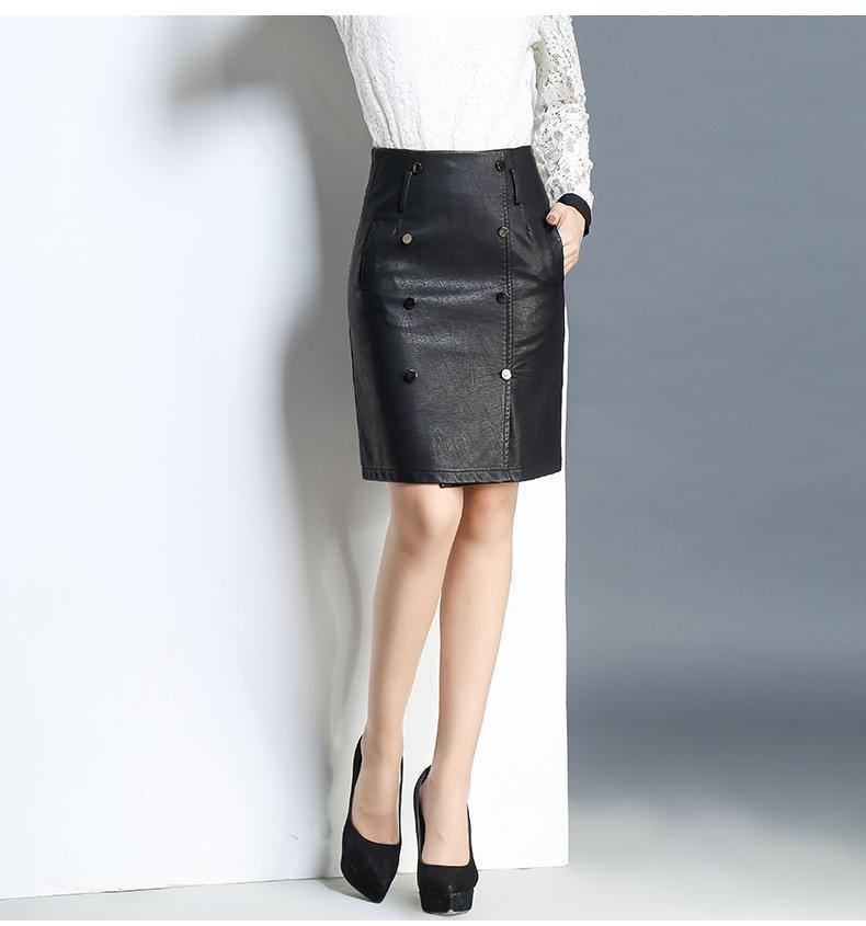 f39e6d433942 High Quality Women Pencil Leather Sexy Black Skirt - GoFashional Store.  NEXT. PREV. Zoom