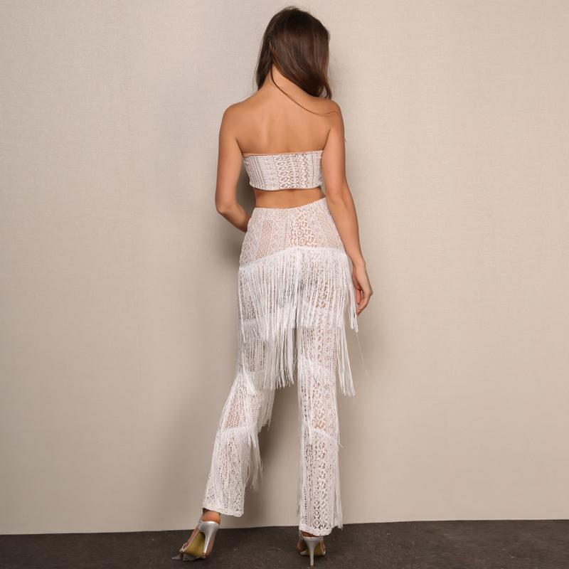 Summer Tassel Overalls Long Jumpsuit - GoFashional Store