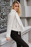 Elegant Leather Double Zipper Pocket Jacket