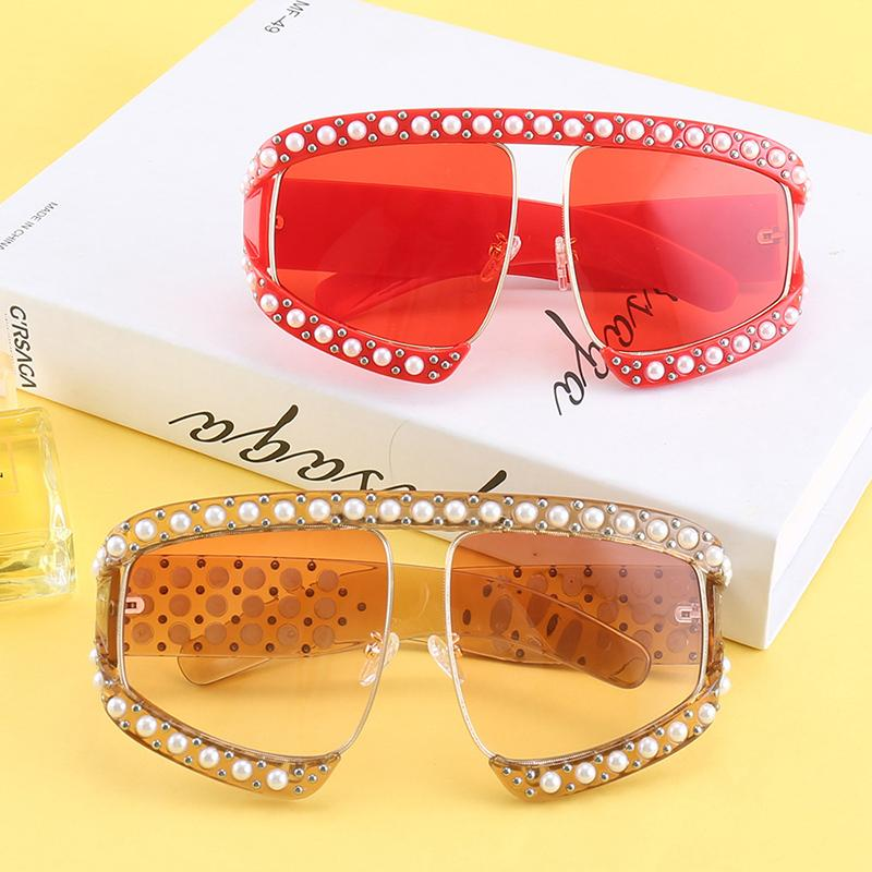 Pearl FashionnOversized Women Sunglasses - GoFashional Store