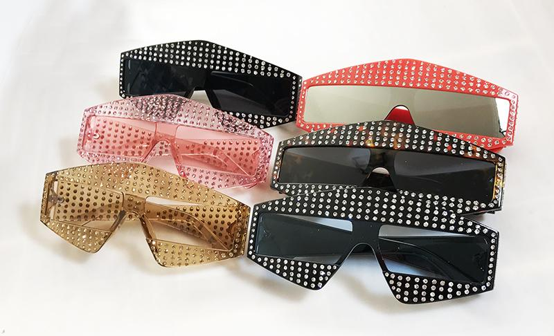 New Crystal Women Square Sunglasses - GoFashional Store