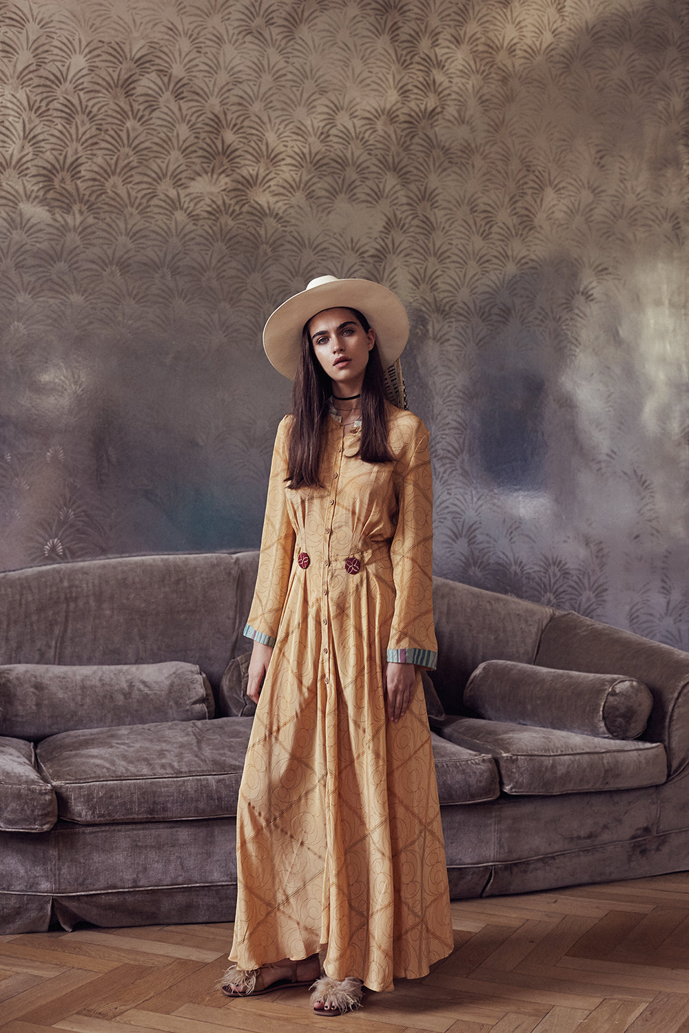 Desert Dress in Gold
