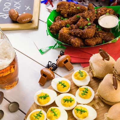 TAILGATE PARTY TREATS — BEERS, BRATS AND BURGERS