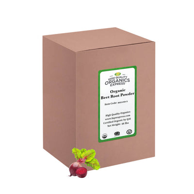 High Quality Organics Express Beetroot Powder box