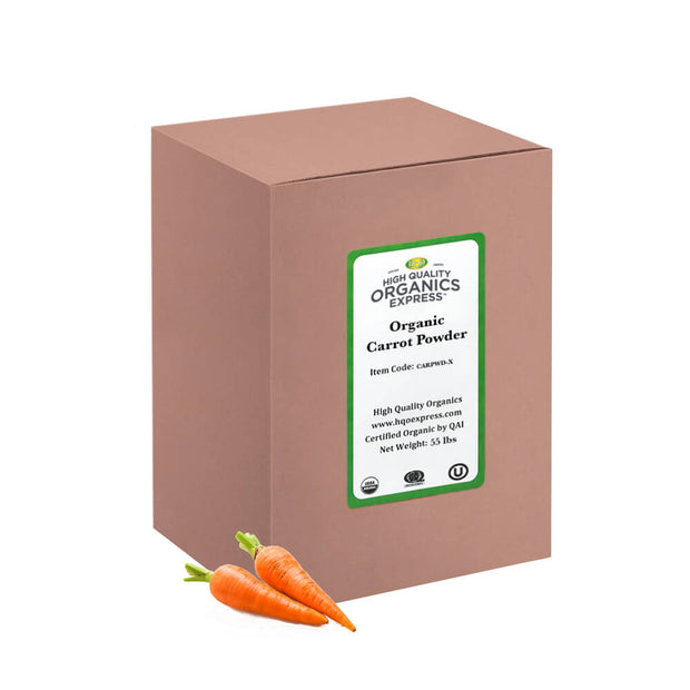 High Quality Organics Express Carrot Powder Bulk Box
