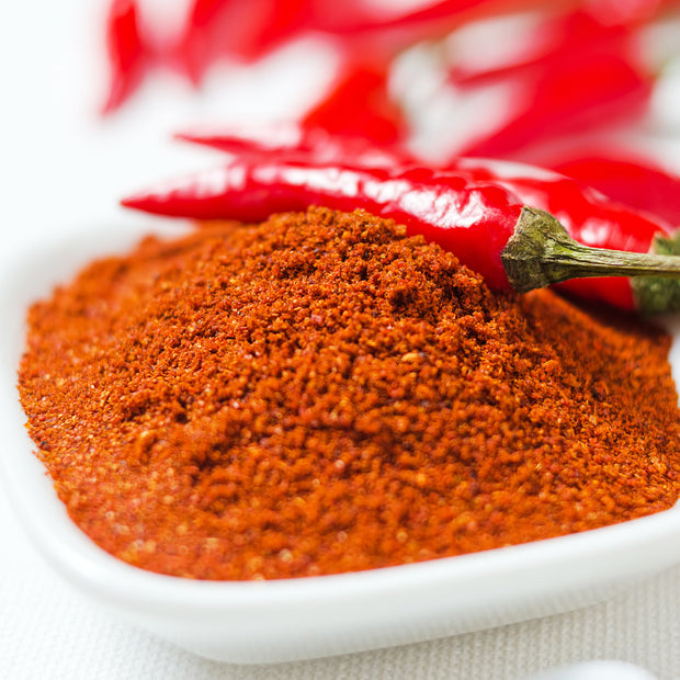 High Quality Organics Express Cayenne Pepper in bowl