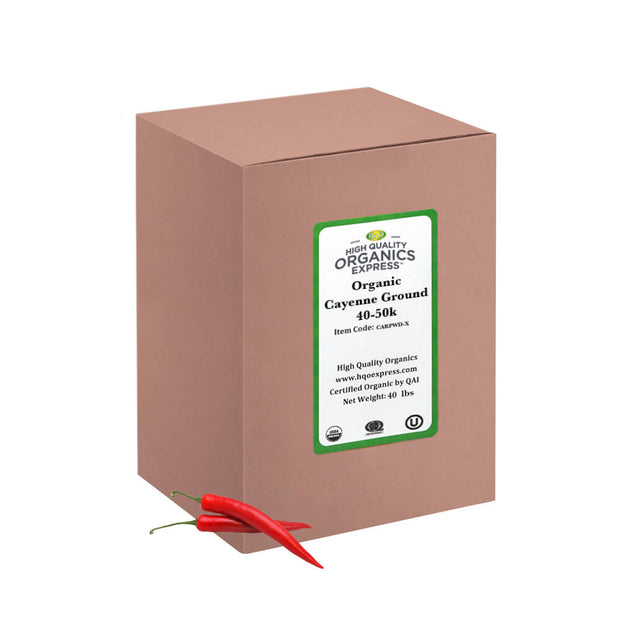 High Quality Organics Express Cayenne Pepper Bulk Box