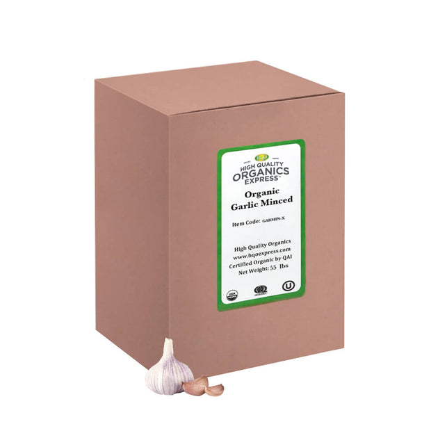 High Quality Organics Express Garlic Minced Bulk Box