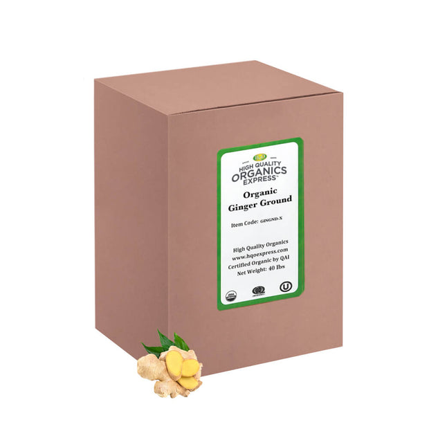 High Quality Organics Express Ginger Ground Bulk Box