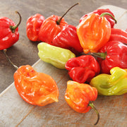 High Quality Organics Express Habanero Peppers on Table