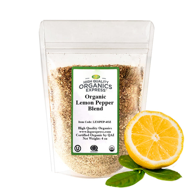 Organic Lemon Pepper Seasoning and Rub Resealable Bag