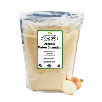 High Quality Organics Express Onion Granules Bag