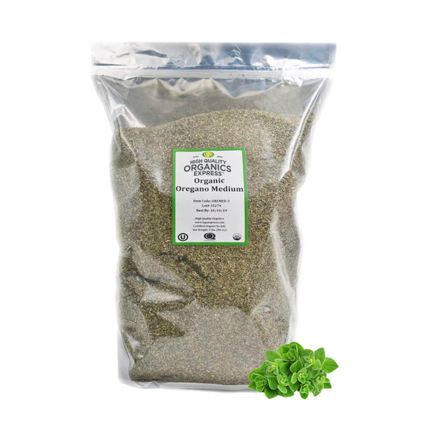 High Quality Organics Express Oregano Leaf Resealable Bag