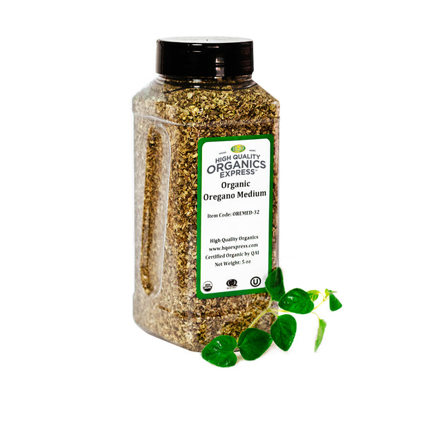 High Quality Organics Express Oregano Leaf Jar