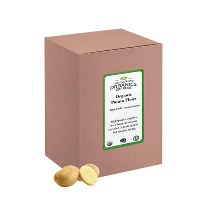 High Quality Organics Express Potato Flour 50 lb box
