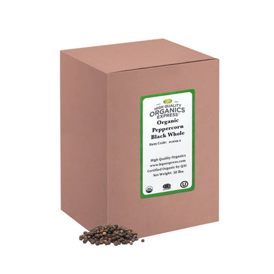 High Quality Organics Express Black Pepper Whole Bulk Box