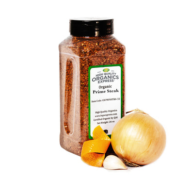 High Quality Organics Prime Steak Seasoning Chef Jar