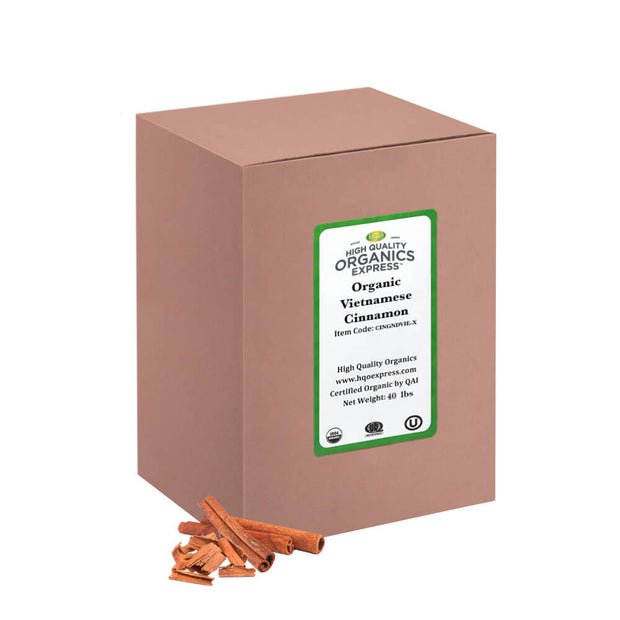 High Quality Organics Express Vietnamese Cinnamon Bulk Box