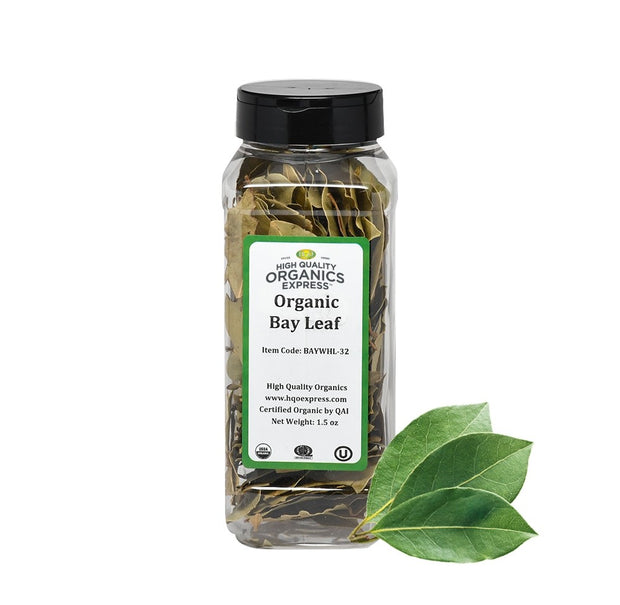 High Quality Organics Express Bay Leaf Whole Jar