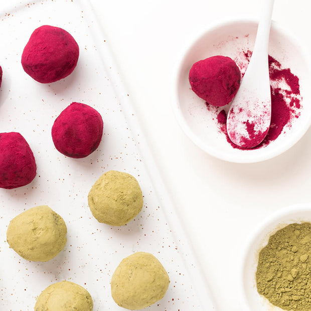 High Quality Organics Express Beetroot Powder in power ball snacks