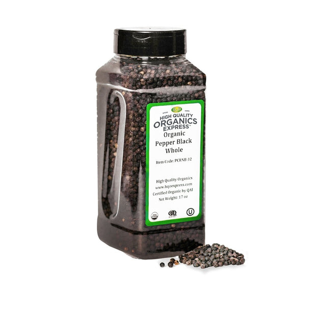 High Quality Organics Express Black Pepper Whole Jar