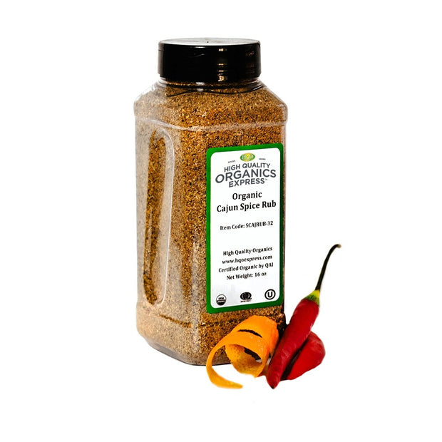 High Quality Organics Express Cajun Spice Jar