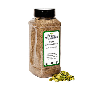 High Quality Organics Express Cardamom Ground Jar