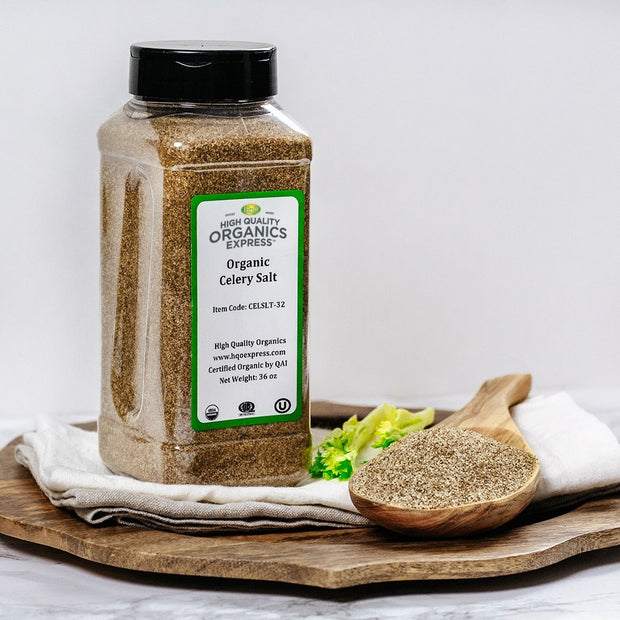 High Quality Organics Express Celery Salt Display