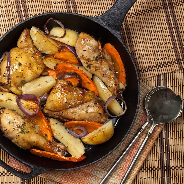High Quality Organics Express Poultry on chicken, potatoes and carrots