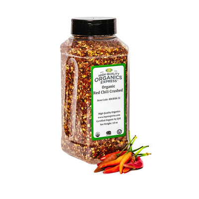 High Quality Organics Express Red Chili Pepper Crushed Jar