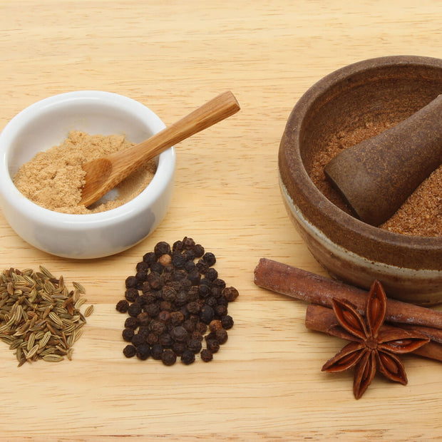 Chinese 5 Spice Ingredients on table